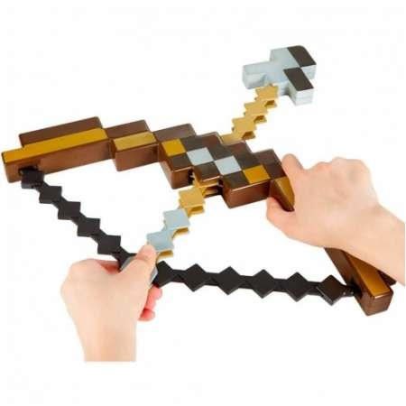 Пиксельный лук со стрелой Майнкрафт