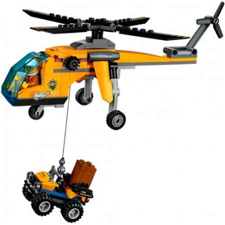 Конструктор Lepin грузовой вертолет исследователей джунглей 215 деталей