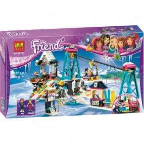 Конструктор Bela Friends горнолыжный курорт Подъемник (Аналог LEGO) 591 деталь. Возраст 6+