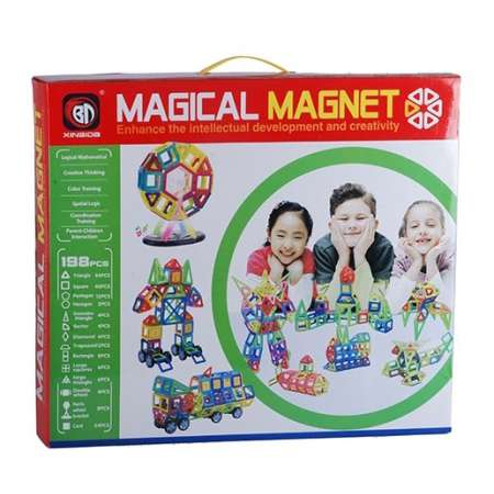 Магнитный конструктор Magical Magnet 198 деталей