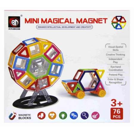 Магнитный конструктор Mini Magical Magnet 76 деталей