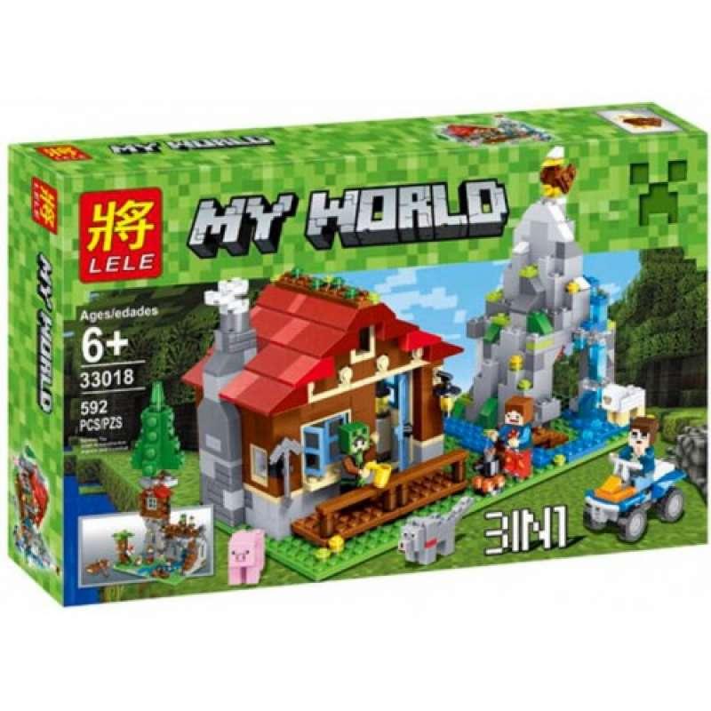 Minecraft Хижина в горах