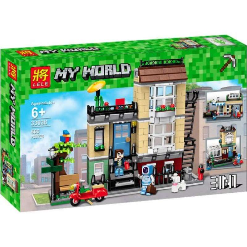 Minecraft домик в городе