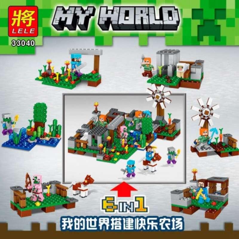 Minecraft 33040 набор 6 в 1