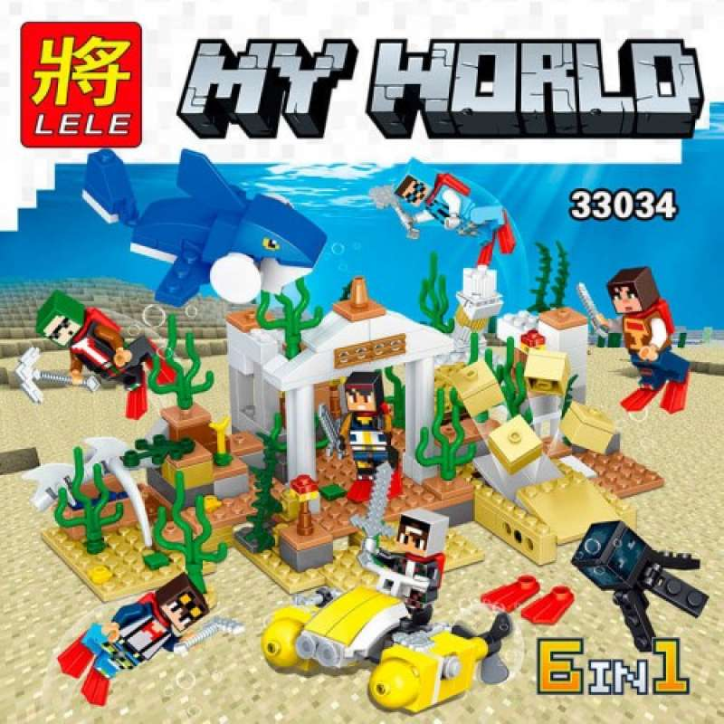 Minecraft Подводный мир 6 в 1