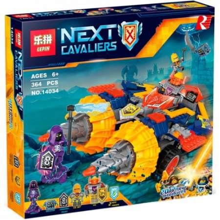 Конструктор Lepin Nexo Knights Бур-машина Акселя 364 детали