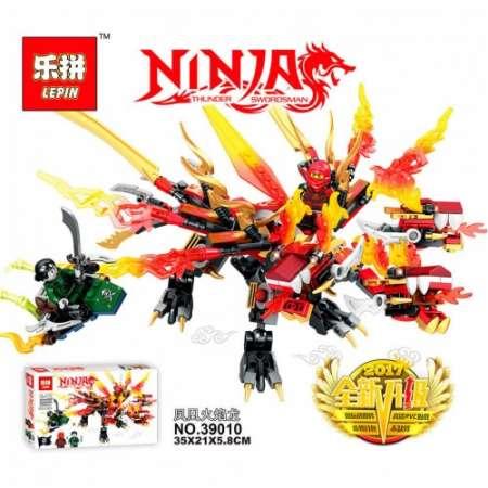 Конструктор Ninja Go красный дракон Кая 448 деталей