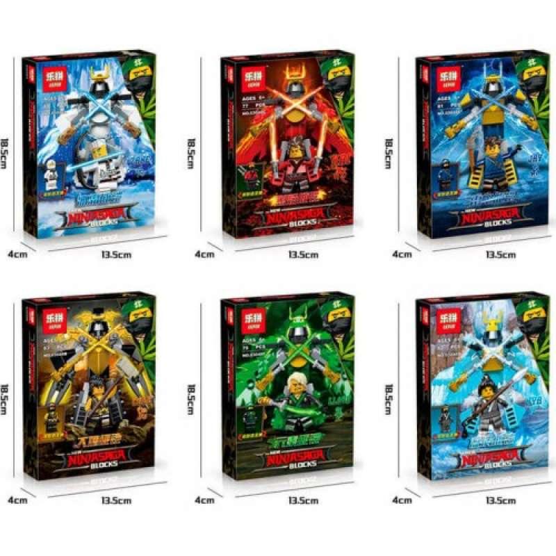 Набор 6 героев Ninja Movie