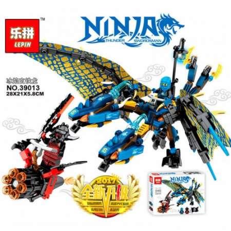 Конструктор Ninja Go дракон воды 348 деталей
