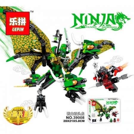 Конструктор Ninja Go дракон земли 348 деталей