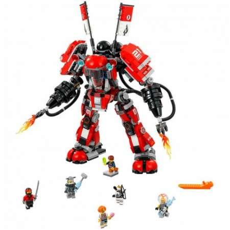 Конструктор Ninja Movie Огненный робот Кая 1010 деталей