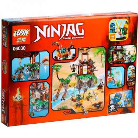 Конструктор Ninja Go остров тигриных вдов 482 детали