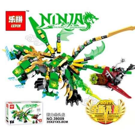 Конструктор Ninja GO зеленый дракон 448 деталей