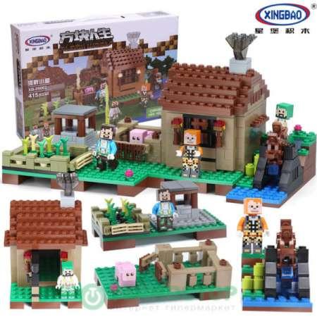Прибрежный коттедж Minecraft (Аналог LEGO)
