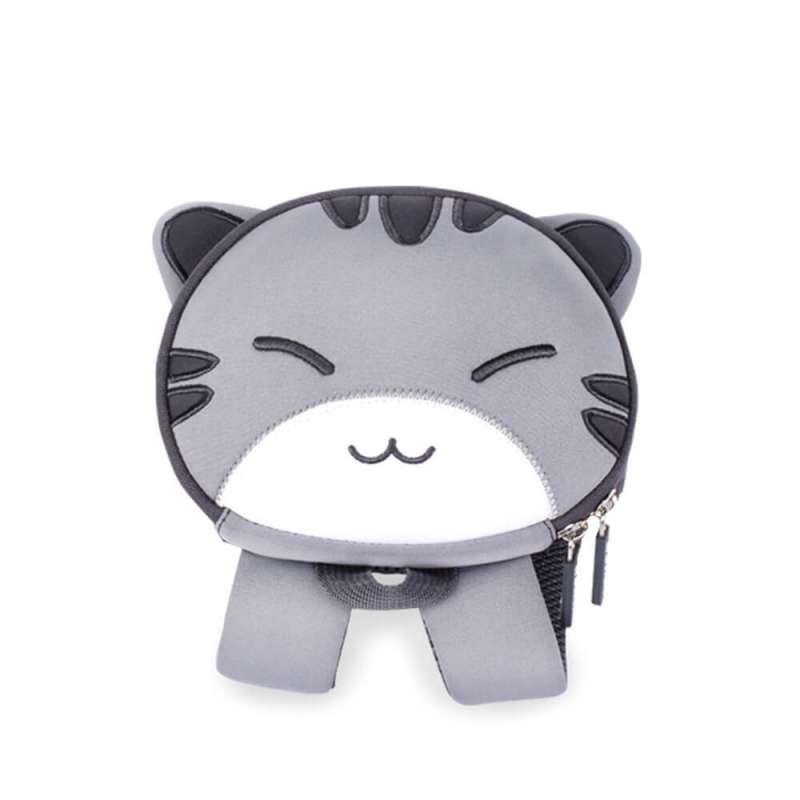 Рюкзак 3D Серый котик (с поводком)