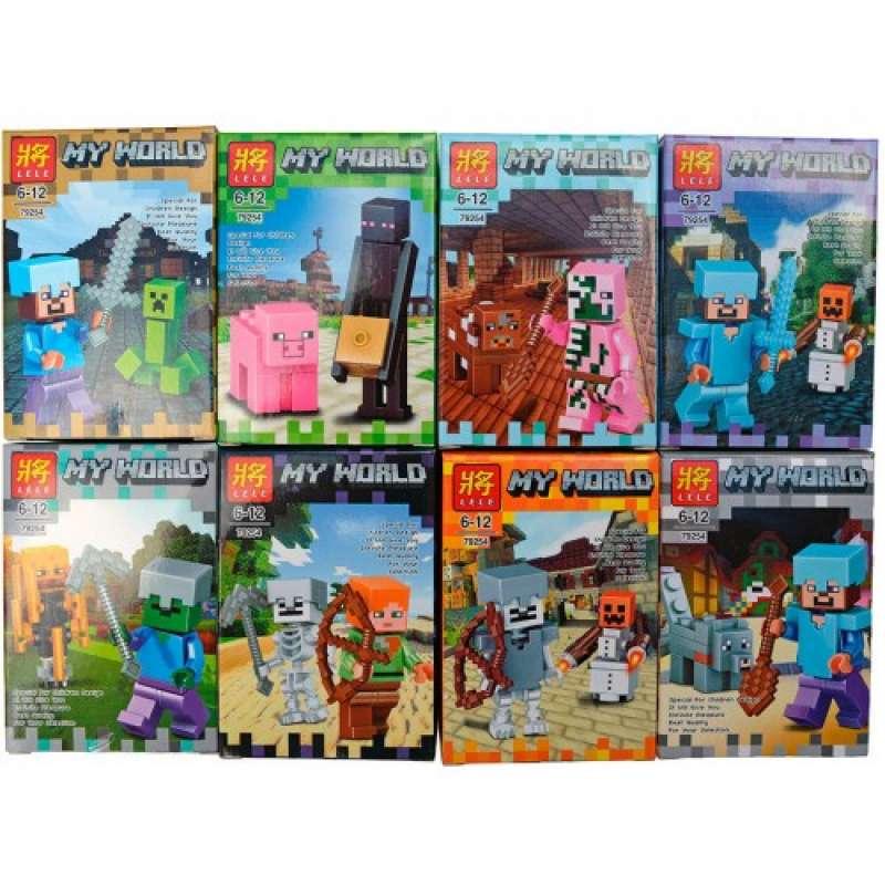 Комплект 8 фигурок из Майнкрафт