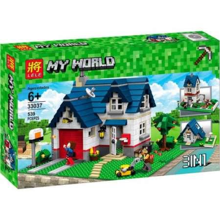 Конструктор Майнкрафт загородный дом Аналог LEGO